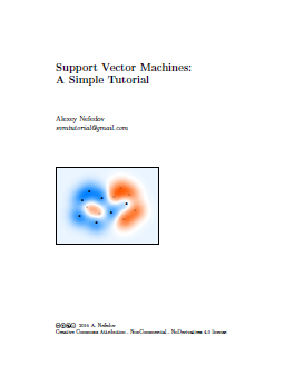 Title page of the tutorial on support vector machines by Alexey Nefedov